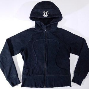 Lululemon Black Zip-up Scuba Hoodie Sweatshirt